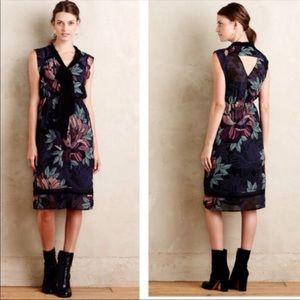 Anthropologie Maeve Floral Bretin Dress Medium
